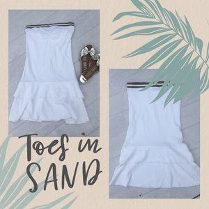 SPLIT terry cloth bathing suit shower coverup